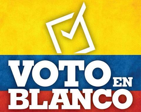 Voto en blanco lidera en ultima encuesta en presidenciales