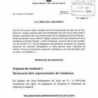 """""""Constituimos la República catalana como estado independiente"""""""
